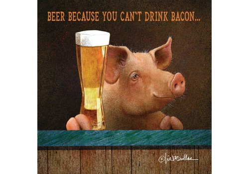 Beverage Napkin You Can't Drink Bacon