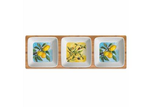 Dipping Dish Set Lemon/Olive Musee