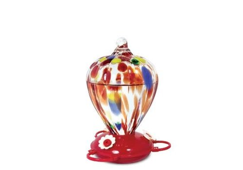 Art Glass Hummingbird Feeder Balloon Design
