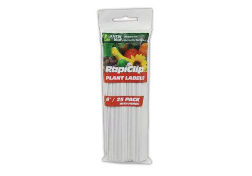 """Rapiclip Plant Labels 6"""" With Pencil"""
