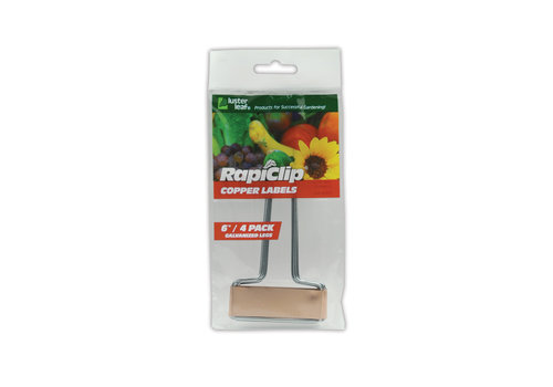 Rapiclip Copper Plant Labels 6""