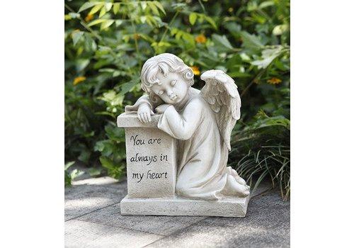"Cherub Resting on Pedestal 10.5""x8.25"""