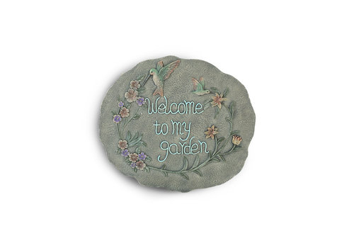 """Garden Welcome Stepping Stone 10""""x11"""""""