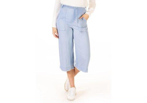 Dex Frayed Hem Wide Leg Belted Pant