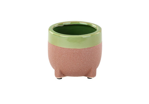 Drip Glaze Footed Planter 4""