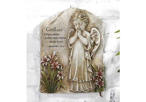 "Praying Angel Plaque 10.5""x7.75"""