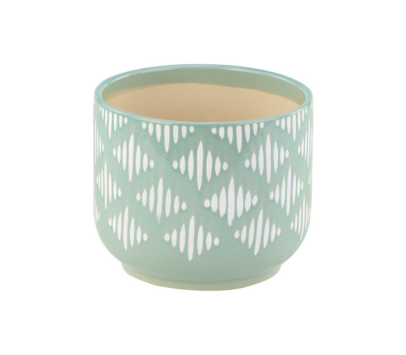 "Blue Lattice Planter 5""x6"""