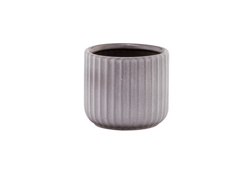 Grey Striated Planter 4""