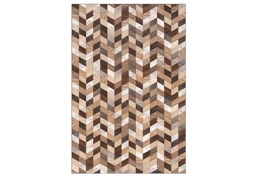 Multicolor Brown Rectangle Vinyl Mat