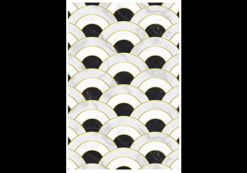 Black & White Rectangle Vinyl Mat
