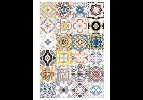 Patchwork Multicolor Rectangle Vinyl Mat
