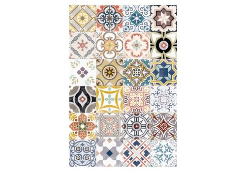 Patchwork Runner Vinyl Mat Multicolor