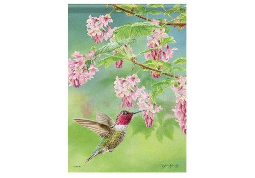 Garden Flag Hummingbird & Currant