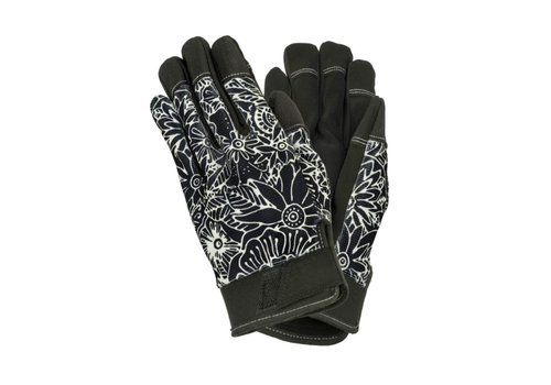Floral Work Gloves Black & White