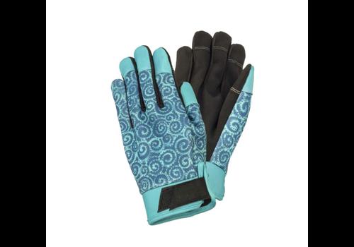 Teal Swirl Work Gloves