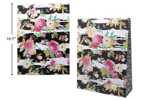 Stripe Floral Gift Bag Jumbo