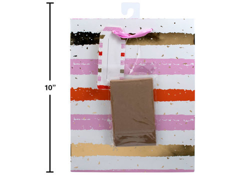 Gold Stripe Matte Gift Bag Medium