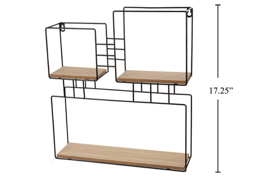"Wall Storage Shelf Squares 16""x17.5"""