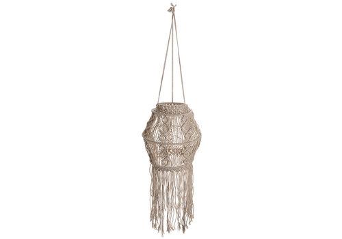 "Boho Macrame Hanging Lamp Shade 10""x22"""