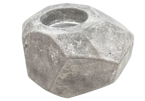 """Faceted Concrete Tealight Holder 4.25"""""""