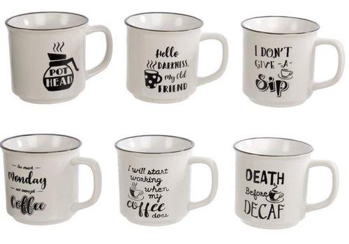 Enamel Look Mug With Saying