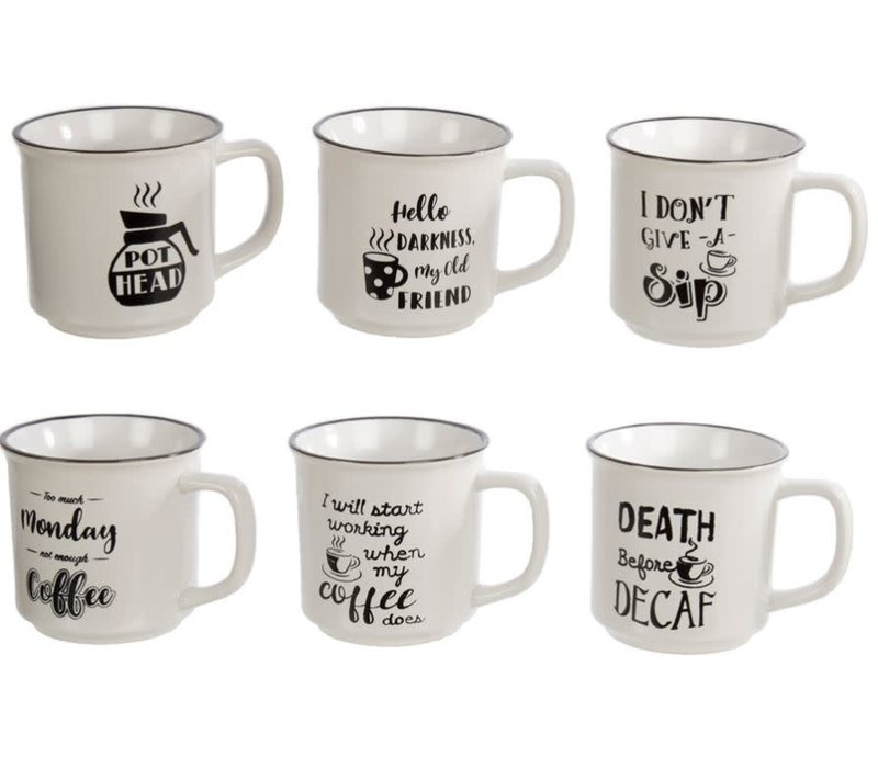Enamel Look Mug With Saying