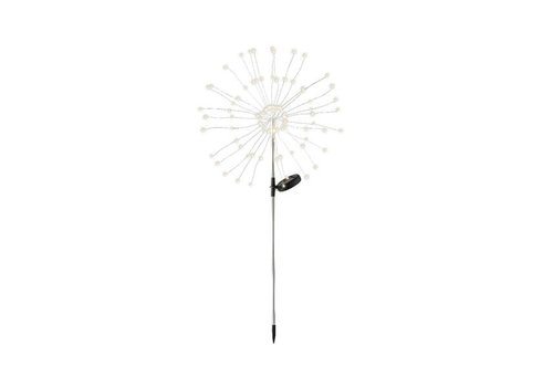 Kaemingk Micro LED Solar Starburst Stake Warm White 90L