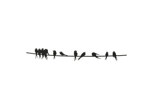 Birds On Wire Wall Decor