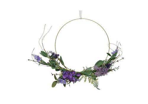 Lavender Wire Wreath 40x8cm