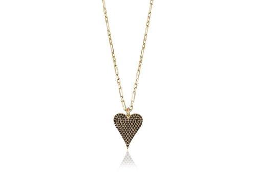 LimLim Crystal Heart Necklace