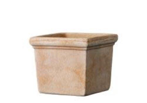 """Deroma Siena Mini Square Clay Pot 4"""""""