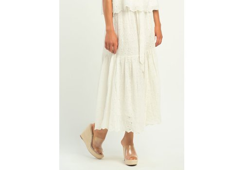Dex Tiered Floral Eyelet Skirt