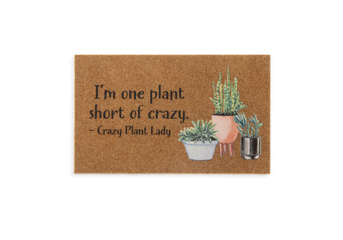 """Crazy Plant Lady Door Mat 18""""x30"""""""