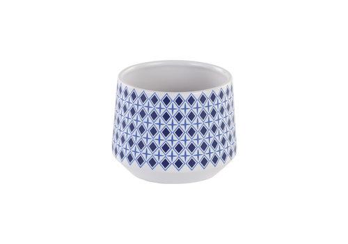 Blue/White Diamond Planter