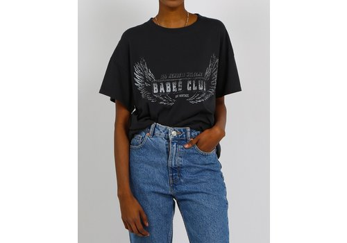 Brunette The Label Babes Club Oversized Boxy Tee