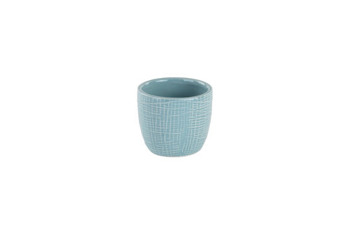 "Blue Woven Texture Mini Pot 2.25""x2.5"""