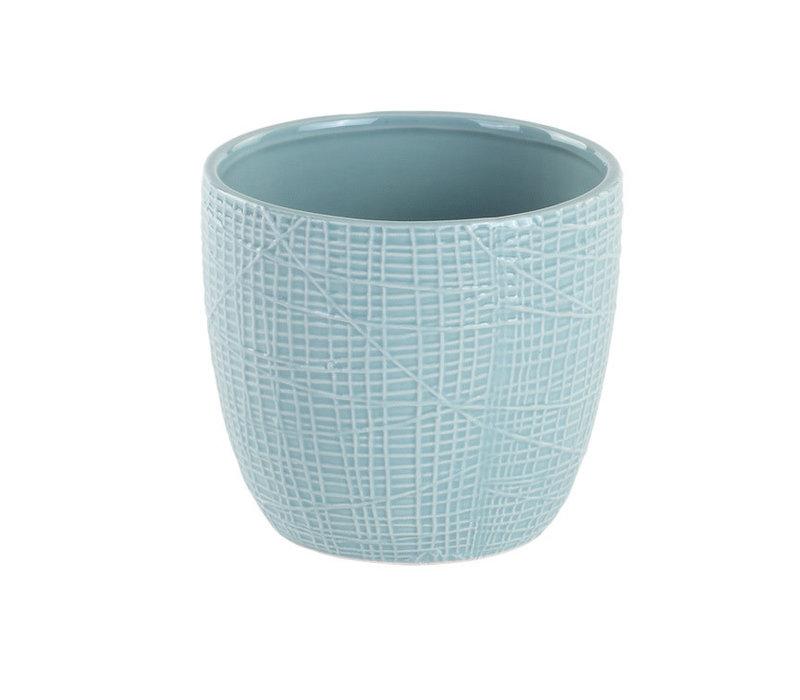 Blue Woven Texture Planter