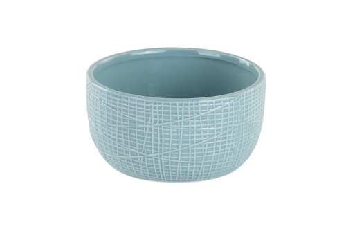 "Blue Woven Texture Dish Garden 3""x5.5"""