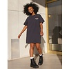 Brunette The Label Babes Club Rose Boxy Tee Dress