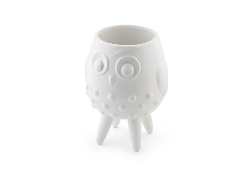 """White Footed Owl Planter 5.25""""x3.75"""""""