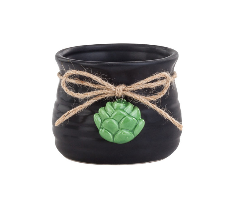 "Honey Pot With Succulent Hanger 2.75""x3.25"""