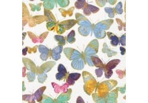 Golden Butterflies Cocktail Napkin