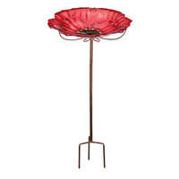 Birdbath and Feeder with Stake Poppy