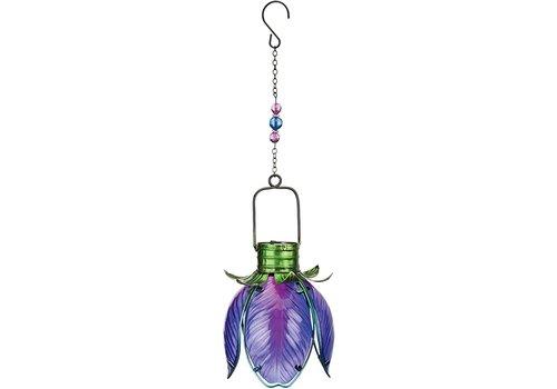 Solar Flower Lantern Purple Iris