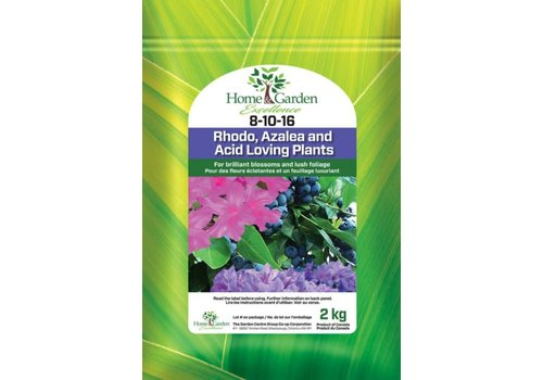 Home & Garden Excellence Rhodo, Azalea and All Acid Loving Plants 8-10-16 2kg