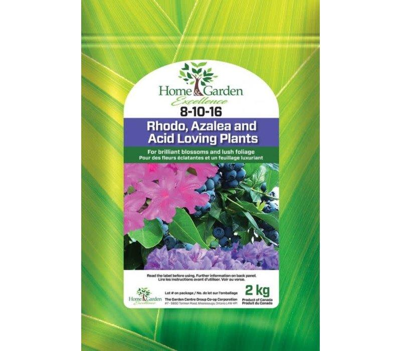 Rhodo, Azalea and All Acid Loving Plants 8-10-16 2kg