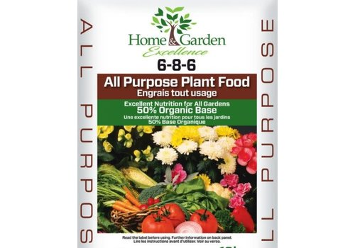Home & Garden Excellence All Purpose Plant Food 6-8-6 2kg