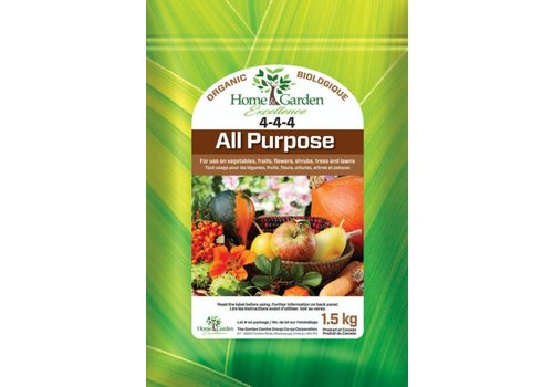 Home & Garden Excellence Organic All Purpose Plant Food 4-4-4 1.5kg