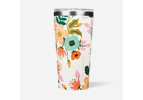 Corkcicle Rifle Paper Tumbler Gloss Cream Lively Floral 16oz