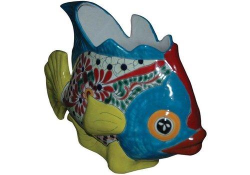 "Avera Home Goods Tropic Fish Planter 14"""